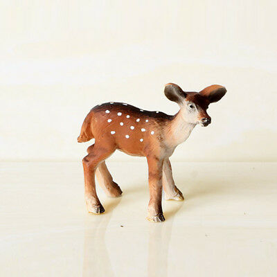 Creative Mini Deer Resin Ornaments Home Decor Craft Kids Toys Party Animal