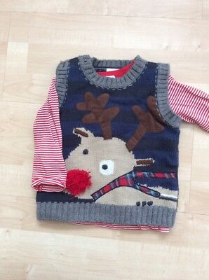 Next Baby boys 9-12 months christmas Jumper / Vest