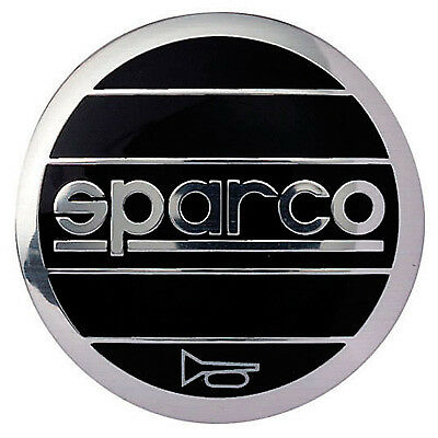 Sparco Replacement Sparco Horn Push Badge - Black/Silver Design