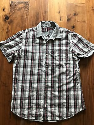 Men 39 S Next Red And Blue Checked Shirt Large Excellent