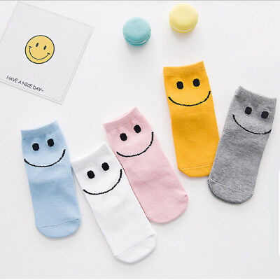 NEW Kids Girls Boys Hosiery Casual Breathable Solid Cotton Socks colors