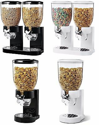 Single/Double Cereal Dispenser Machine Dry Food Storage Pot Pasta Rice Container