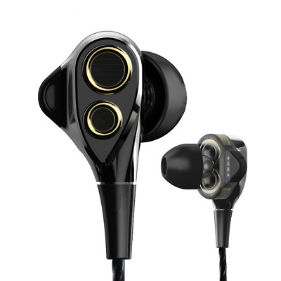 Newest Sport Dual Driver HiFi Stereo Super Bass Headset In Ear Earphones