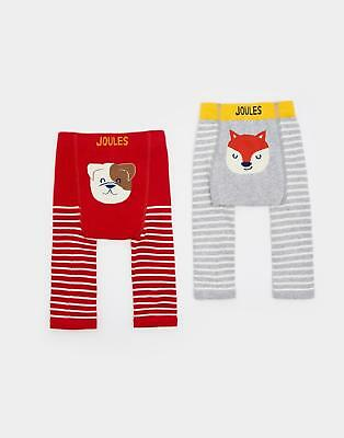 Joules 124473 Baby Boys Lively 2pk Footless Leggings with Soft Waistband in Dog