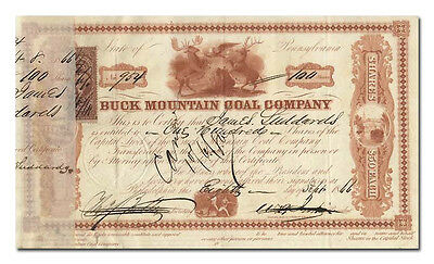 Buck Mountain Coal Company Stock Certificate (1800's)