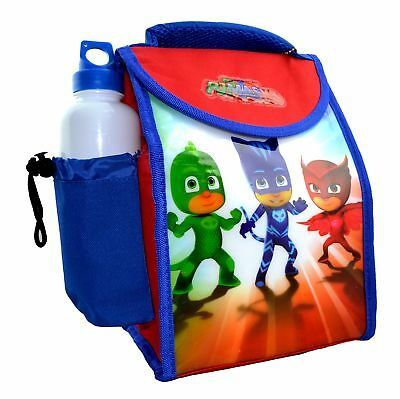 Disney Pj Masks 'Ready For Action' School Lunch Bag With Bottle Brand New Gift