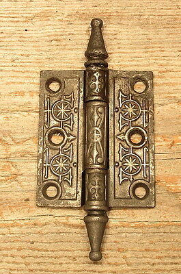 Ornate Victorian Cast Iron Door Hinge Vintage Antique