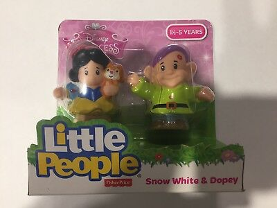 NEW Fisher-Price Little People Disney Princess Snow White & Dopey