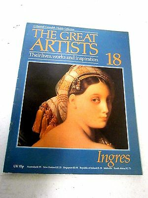 "The Great  Artists  "" Ingres "" Marshall Cavendish Magazine 1985  # 18"