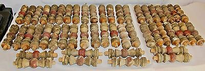 "LOT OF 50 Vintage FARM FRESH SALVAGE Wood 6"" SPINDLES Balusters Multicolor"