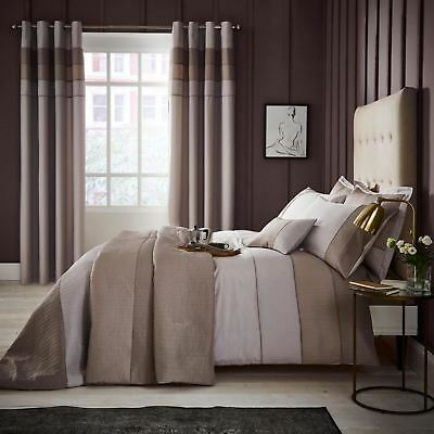 Catherine Lansfield Ombre Ribbed Bands Striped Luxury Clean Classic Bedding