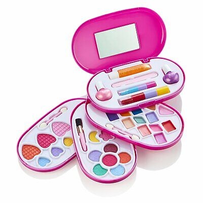 Girls Cosmetic Make-up Beauty Case Set Eye-shadow,Lipstick,Lip Gloss,Nail Polish