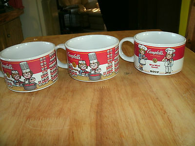 Lot of 3 Vintage Campbell's Kids Soup Collectibles Mugs Cups By Westwood