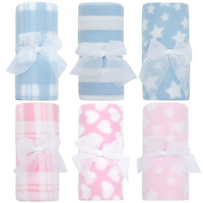 Babies Soft Fleece Cot / Pram blanket ~ 75 x 75cm