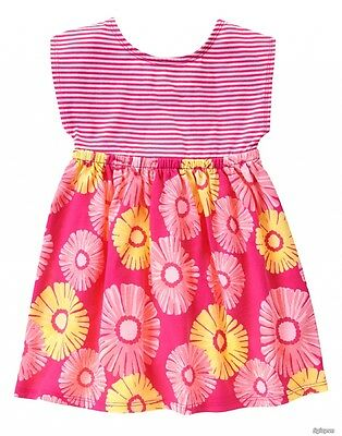 NEW Gymboree Baby Toddler Girls 5T Flowers Pink Striped Cotton Dress