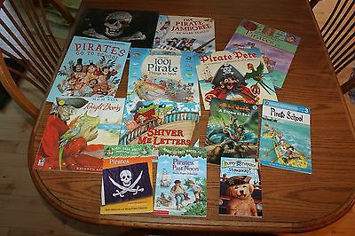 13 Pirate Picture Books Lot ABC Children Magic Tree House Usborne Chapter