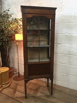 Antique Georgian Display Cabinet on Tapered Legs