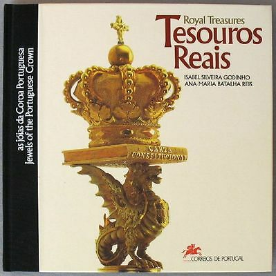 s1782) Portugal Tesouros Reais - Jewels of the Portuguese Crown Sonderbuch 1992