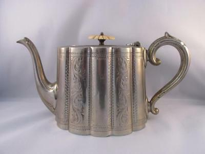 Antique Silver Plated Teapot by Needham Veall & Tyzack of Sheffield C 1900s/10s