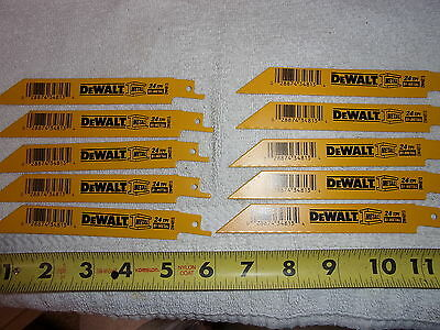Dewalt Dw4813 Metal/Ss Reciprocating Saw Blades - New - Group Of 10