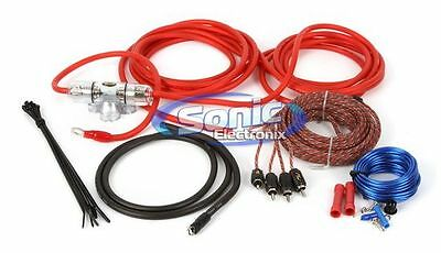 NEW! Stinger SK4681 8 Gauge AWG Power & Signal Amplifier Installation Kit