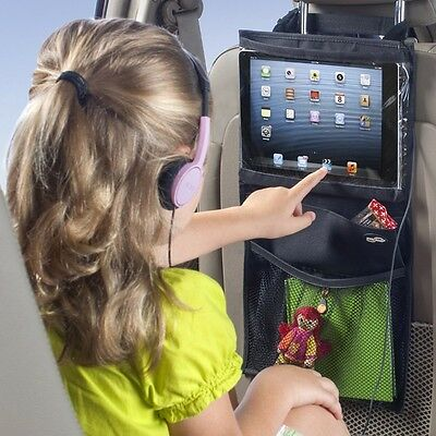 New Back Seat Car Organiser with Tablet holder iPad Galaxy Storage Travel Kit