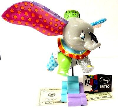 "New in Box, Disney's Dumbo Figurine Romero Britto Collection 7.25""H Awesome!!!"