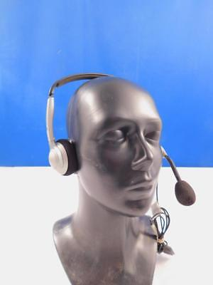 Sennheiser beidseitiges Headset Large Ear Caps Noise Cancelling Mikrofon Silber