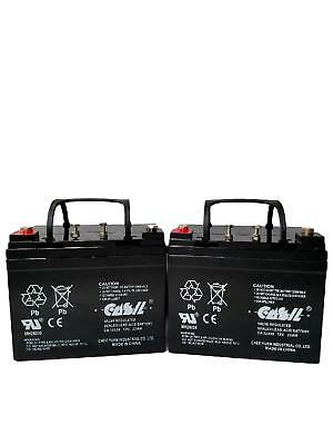 (2) Casil 12v 33ah for FORTRESS SCIENTIFIC 1600ACV,THERAD