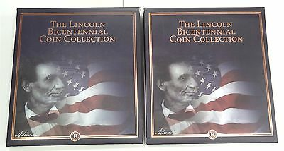 Two Volume Lincoln Bicentennial Coin Collection by The Bradford Exchange