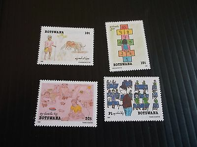 Botswana 1989 Sg 678-681 Childrens Paintings  Mnh