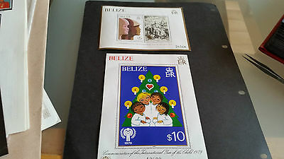 Belize 1980 Sg Ms558-559 International Year Of The Child Mnh