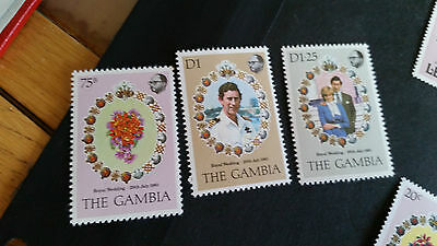 Gambia 1981 Sg 454-456 Royal Wedding Mnh