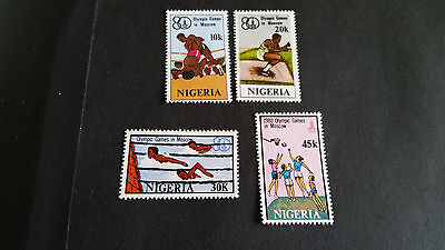 Nigeria 1980 Sg 406-409 Olympic Games  Mnh