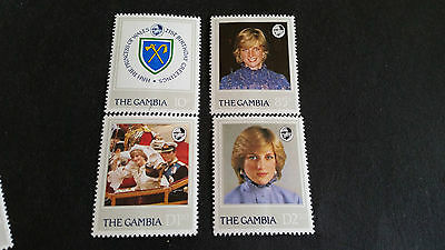 Gambia 1982 Sg 476-479 21St Birthday Of Princess Of Wales Mnh