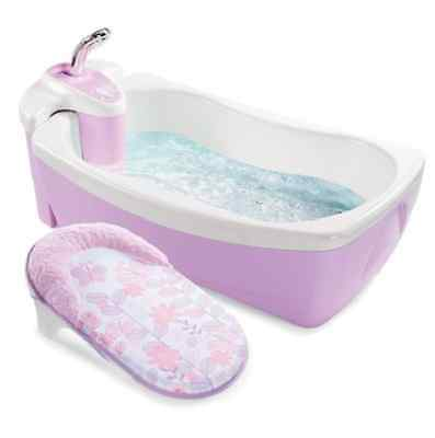 Baby Shower Tub Whirlpool Spa Bath With Hand Shower Infant To Toddler Violet