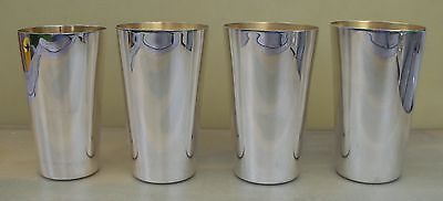 Set 4 Elizabeth II sterling silver stacking beakers, 662 grams, Alfred Dunhill