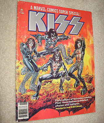 KISS 1977 Marvel Comics Super Special Vol. 1 No. 1 Simmons Stanley Frehley Criss