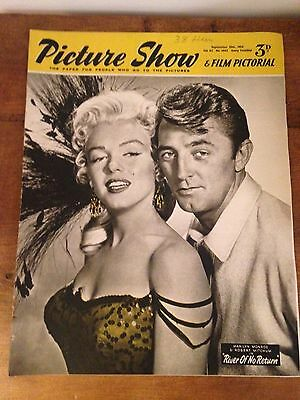 Vintage Picture Show Magazine - Marilyn Monroe & Robert Mitchum', 25th Sept 1954