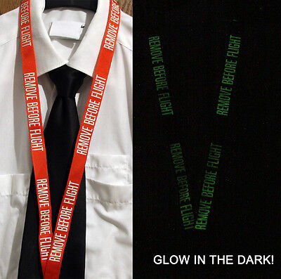 Lanyard REMOVE BEFORE FLIGHT *GLOW IN THE DARK* red Lanyard