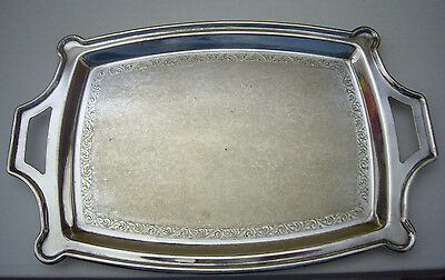 "Vintage William Rogers Canada Silverplate Rectangular Tray 10"" long"
