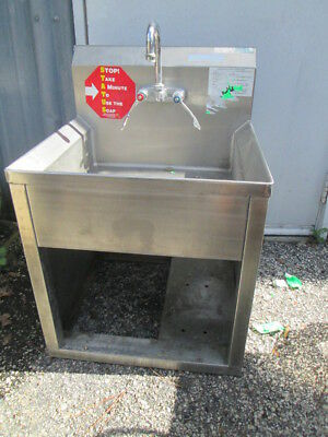 "Stainless Steel 21x20x30""H Single Bay Underbar Hand Wash Sink w/ Stand Utility"