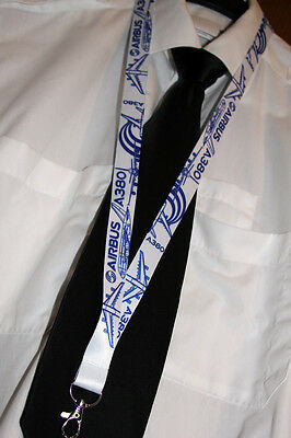 Lanyard Airbus A380 BLUEPRINT keychain neckstrap for Pilots Engineers LANYARD