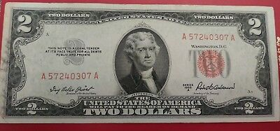1953 A Red Seal $2 Bill