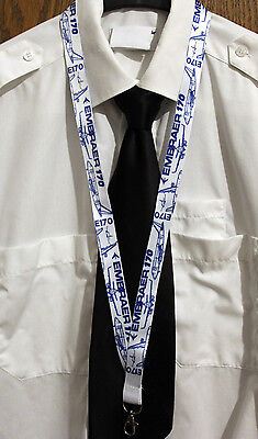 Lanyard EMBRAER E-170 BLUEPRINT keychain neckstrap for Pilots Engineers LANYARD