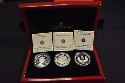 2012 Canada Queen's Diamond Jubilee Twenty Five Dollar $25 3 Coin Proof Set