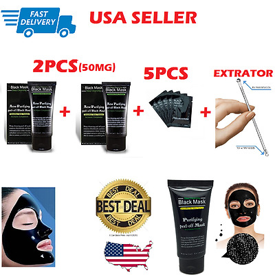 Purifying Black Mask Peel-Off Facial Cleansing Blackhead Remover Charcoal Kit