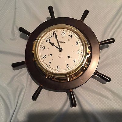 Vintage Schatz German Royal Mariner Ship's Bell Clock as-is for parts