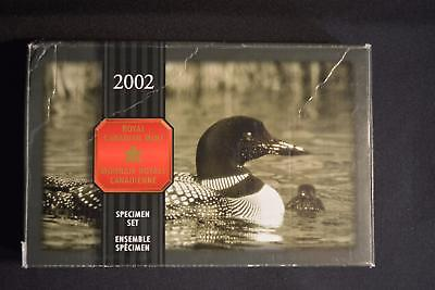 2002 Canada Specimen Set Aureate Loon Dollar 15Th Anniversary
