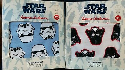 Nwt Hanna Andesson Boxer Briefs Unders Star Wars Darth Storm Trooper Xs 80 90 3T